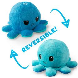 REVERSIBLE PLUSHIES -  BLUE AND LIGHT BLUE -  OCTOPUS