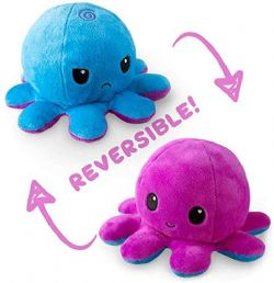 REVERSIBLE PLUSHIES -  BLUE AND PURPLE -  OCTOPUS