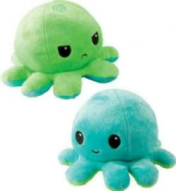 REVERSIBLE PLUSHIES -  GREEN AND LIGHT BLUE -  OCTOPUS