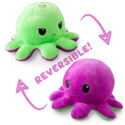 REVERSIBLE PLUSHIES -  GREEN AND PURPLE -  OCTOPUS
