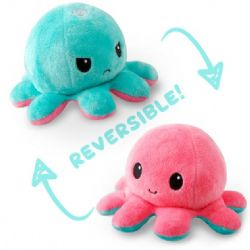 REVERSIBLE PLUSHIES -  LIGHT BLUE AND LIGHT PINK -  OCTOPUS