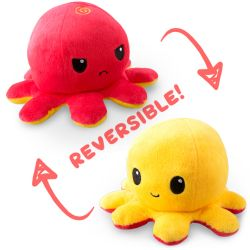 REVERSIBLE PLUSHIES -  RED AND YELLOW -  OCTOPUS