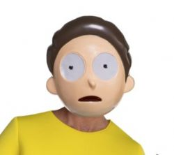 RICK AND MORTY -  MORTY SMITH VACUFORM MASK (ONE SIZE)
