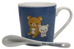 RILAKKUMA -  MUG AND SPOON SET - BLUE