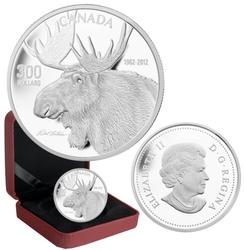ROBERT BATEMAN -  BULL MOOSE -  2012 CANADIAN COINS