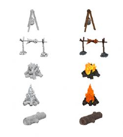 ROLEPLAYING MINIATURES -  CAMPFIRE AND SITTING LOG -  WIZKIDS DEEP CUTS