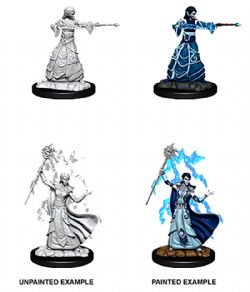 ROLEPLAYING MINIATURES -  FEMALE ELF WIZARD -  D&D NOLZUR'S MARVELOUS UNPAINTED MINIATURES