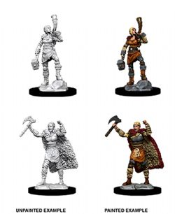 ROLEPLAYING MINIATURES -  FEMALE HUMAN BARBARIAN -  D&D NOLZUR'S MARVELOUS UNPAINTED MINIATURES