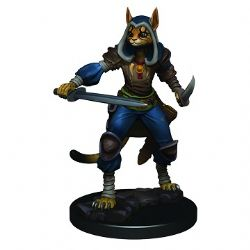 ROLEPLAYING MINIATURES -  FEMALE TABAXI ROGUE -  ICONS OF THE REALMS PREMIUM MINIATURES