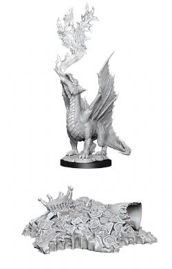 ROLEPLAYING MINIATURES -  GOLD DRAGON WYRMLING -  D&D NOLZUR'S MARVELOUS UNPAINTED MINIATURES
