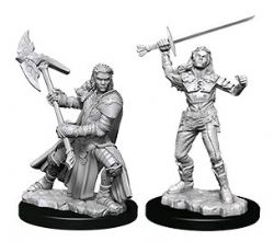 ROLEPLAYING MINIATURES -  HALF-ORC FIGHTER FIGURES -  NOLZUR'S MARVELOUS MINIATURES