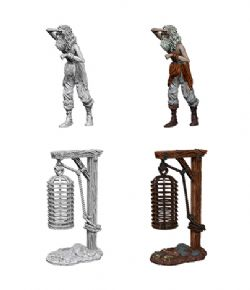 ROLEPLAYING MINIATURES -  HANGING CAGE -  WIZKIDS DEEP CUTS