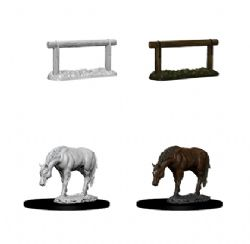 ROLEPLAYING MINIATURES -  HORSE AND HITCH -  WIZKIDS DEEP CUTS