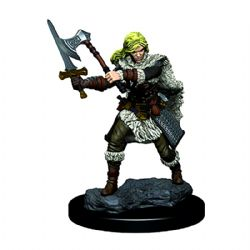 ROLEPLAYING MINIATURES -  HUMAN FEMALE BARBARIAN -  ICONS OF THE REALMS PREMIUM MINIATURES