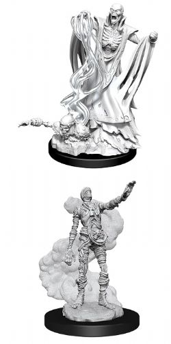 ROLEPLAYING MINIATURES -  LICH AND MUMMY LORD -  D&D NOLZUR'S MARVELOUS UNPAINTED MINIATURES