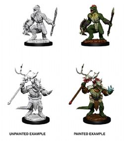 ROLEPLAYING MINIATURES -  LIZARDFOLK AND SHAMAN -  D&D NOLZUR'S MARVELOUS UNPAINTED MINIATURES
