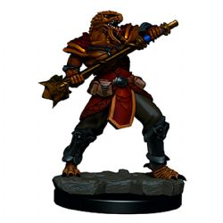 ROLEPLAYING MINIATURES -  MALE DRAGONBORN FIGHTER -  ICONS OF THE REALMS PREMIUM MINIATURES