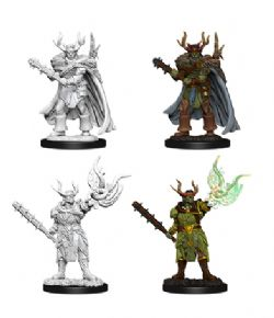 ROLEPLAYING MINIATURES -  MALE HALF-ORC DRUID -  PATHFINDER BATTLES DEEP CUTS