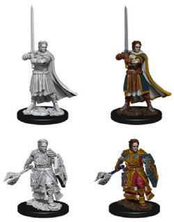 ROLEPLAYING MINIATURES -  MALE HUMAN CLERIC FIGURES (2) -  NOLZUR'S MARVELOUS MINIATURES
