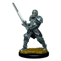 ROLEPLAYING MINIATURES -  MALE HUNTER FIGHTER -  ICONS OF THE REALMS PREMIUM MINIATURES