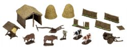ROLEPLAYING MINIATURES -  MEDIEVAL FARMER -  WIZKIDS 4D SETTINGS