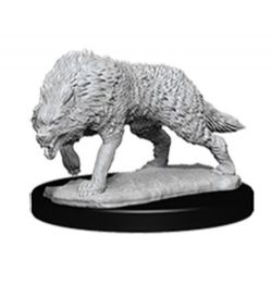 ROLEPLAYING MINIATURES -  TIMBER WOLF FIGURES (2) -  NOLZUR'S MARVELOUS MINIATURES