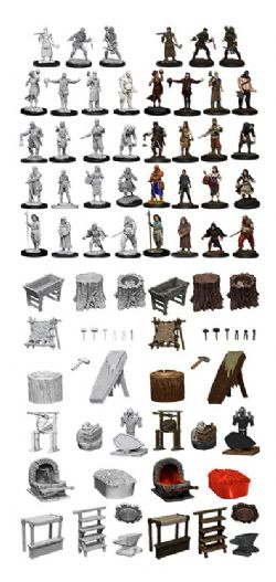 ROLEPLAYING MINIATURES -  TOWNSPEOPLE AND ACCESSORIES -  WIZKIDS DEEP CUTS