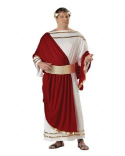 ROMAN -  CAESAR COSTUME (ADULT - PLUS SIZED 48-52)