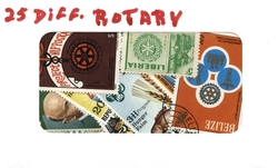 ROTARY -  25 ASSORTED STAMPS - ROTARY