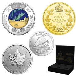 ROYAL CANADIAN MINT STATE-OF-THE-ART SET -  2018 CANADIAN COINS