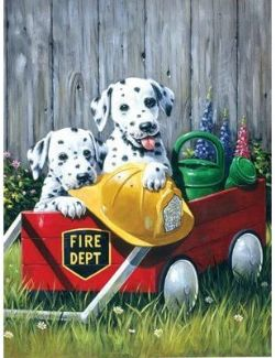 ROYAL & LANGNICKEL -  PAINT BY NUMBERS - FIRE WAGGIN'