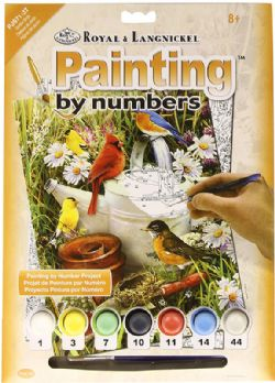 ROYAL & LANGNICKEL -  PAINT BY NUMBERS - GARDEN BIRDS