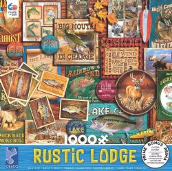 RUSTIC LODGE -  FISHING SIGNS (1000 PIECES)