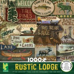 RUSTIC LODGE -  LODGE SIGNS (1000 PIECES)