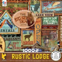 RUSTIC LODGE -  RUSTIC SIGNS (1000 PIECES)