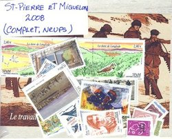 SAINT PIERRE AND MIQUELON -  2008 COMPLETE YEAR SET, NEW STAMPS