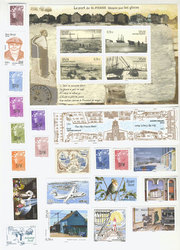 SAINT PIERRE AND MIQUELON -  2009 COMPLETE YEAR SET, NEW STAMPS
