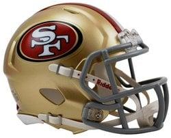 SAN FRANCISCO 49ERS -  MINI HELMET REPLICA GOLD