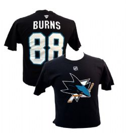 SAN JOSE SHARKS -  BRENT BURNS #88 T-SHIRT - BLACK
