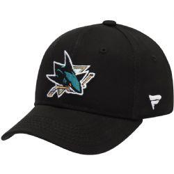 SAN JOSE SHARKS -  LOGO ADJUSTABLE CAP - BLACK