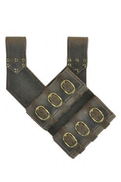 SCABBARDS -  ADVENTURER'S DOUBLE SCABBARD - LEFT HAND (BROWN)