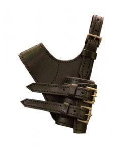 SCABBARDS -  ADVENTURER SWORD HOLDER - BLACK (LEFT HAND)