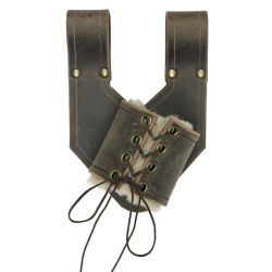 SCABBARDS -  GUILLAUME'S SCABBARD WITH FUR - LEFT - BROWN (LARGE)