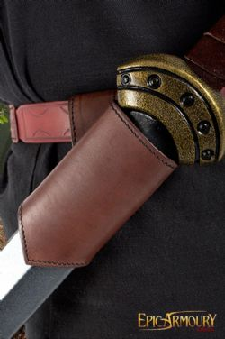SCABBARDS -  LEATHER SWORD HOLDER - LEFT HAND - BROWN