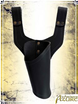 SCABBARDS -  PISTOL HOLSTER - RIGHT HANDED - BLACK