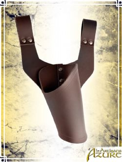 SCABBARDS -  PISTOL HOLSTER - RIGHT HANDED - BROWN