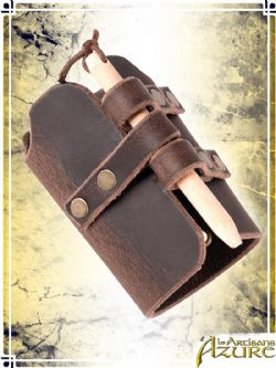 SCABBARDS -  QUICK RELEASE SCABBARD - FLAT GUARD - BROWN