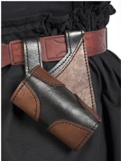 SCABBARDS -  RIGHT HAND KING HOLDER - BROWN AND BLACK