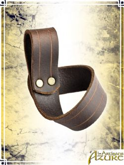 SCABBARDS -  SIMPLE FROG - LEFT HANDED - BROWN
