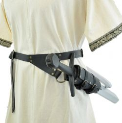 SCABBARDS -  SWORD BELT - RIGHT HANDED (LARGE) - BLACK